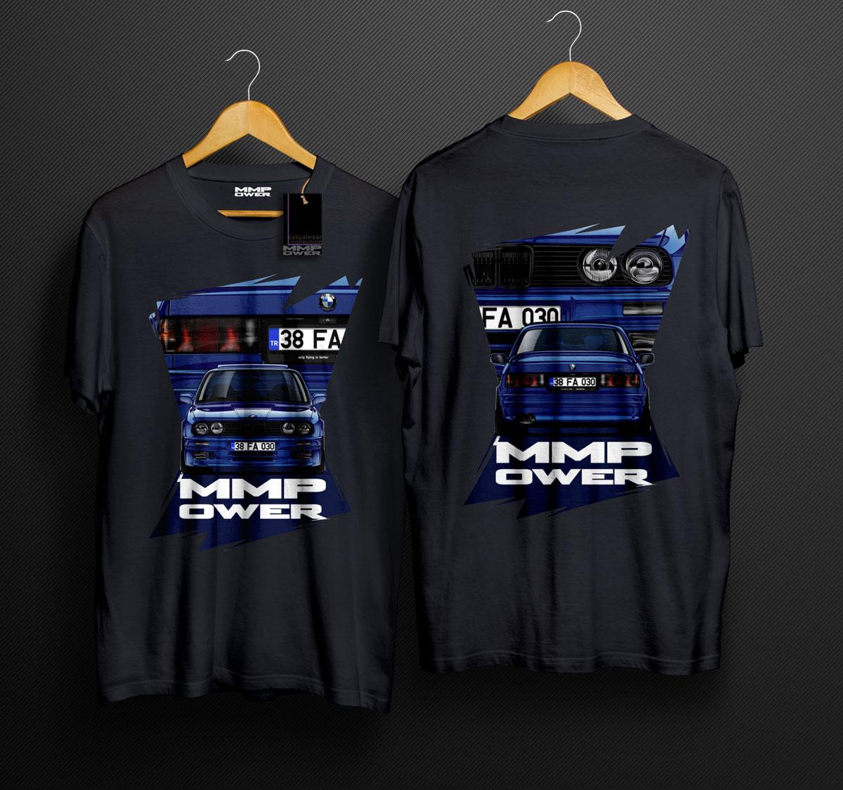 MMPower E30 Karekter TShirt Siyah