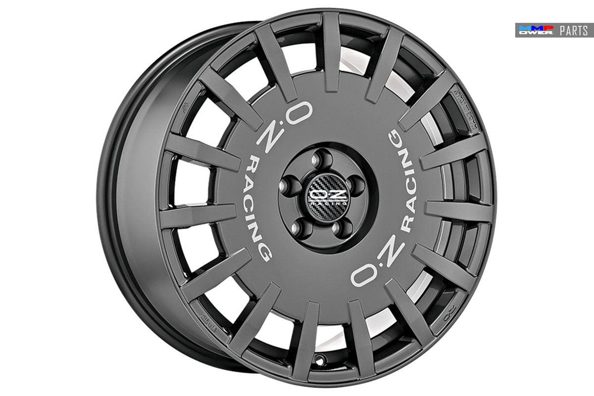 Oz Racing RALLY RACING Ön/arka 8x18 ET48 Dark Grahpite Silver 5x112