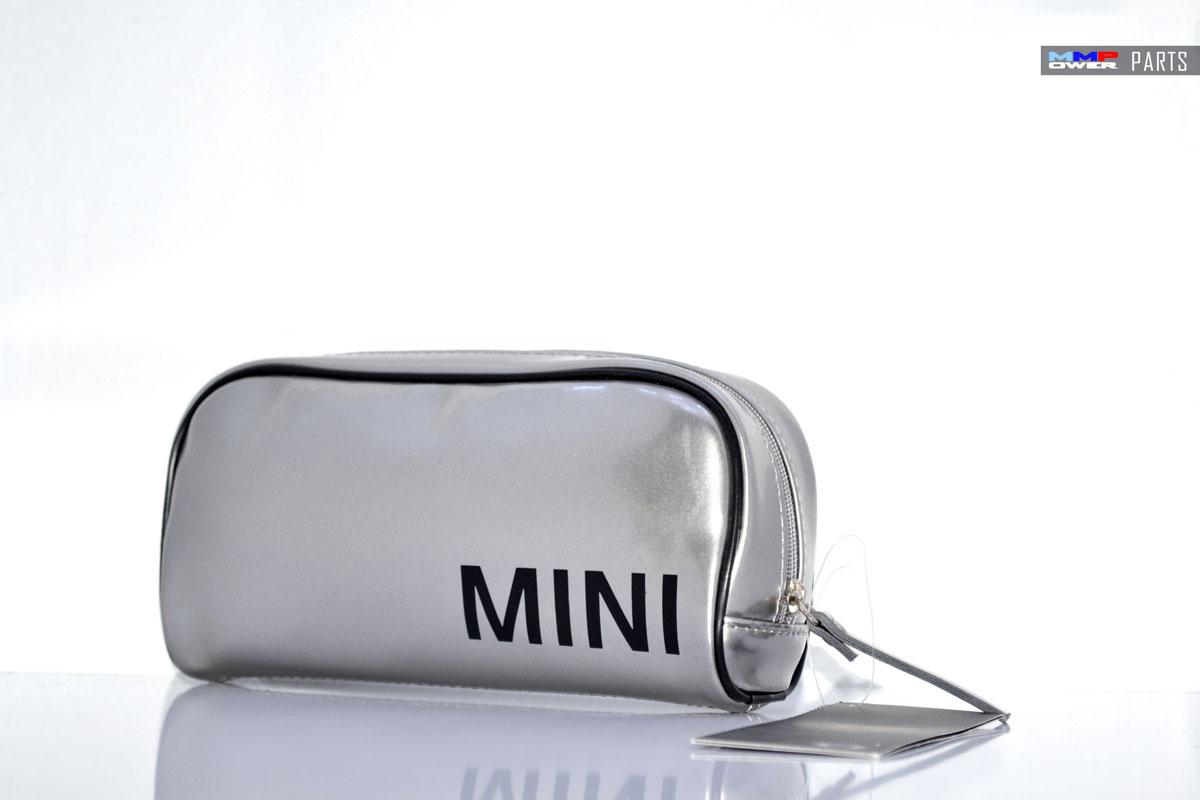 MINI Gümüş Gri Makyaj Çantası