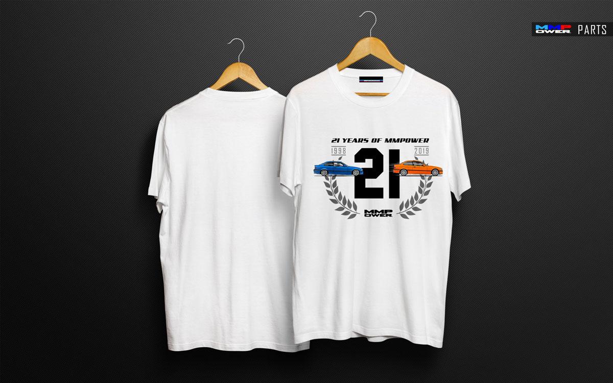 MMPower 21. Yıla Özel Tasarım Beyaz TShirt