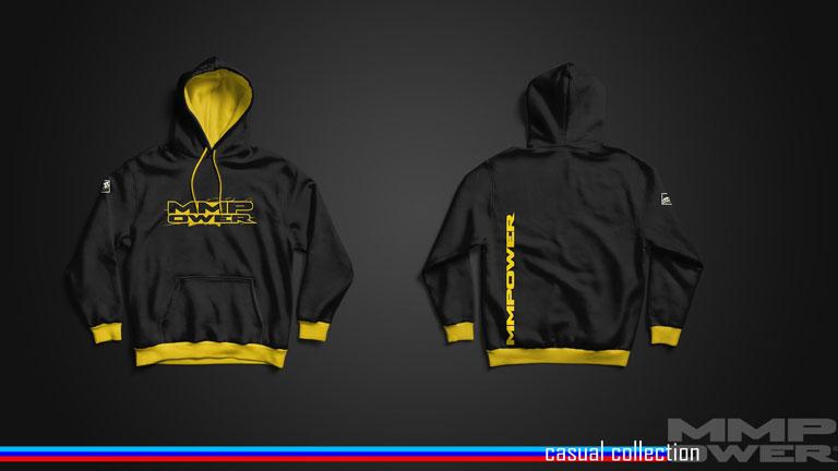 MMPower Özel Tasarım SweatShirt (Hoodie) Siyah Sarı Logolu