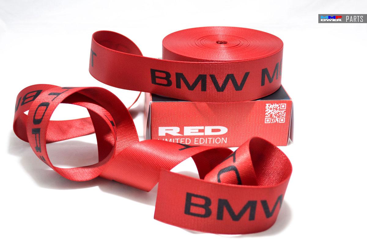BMW MOTORSPORT EMNİYET KEMERİ RED