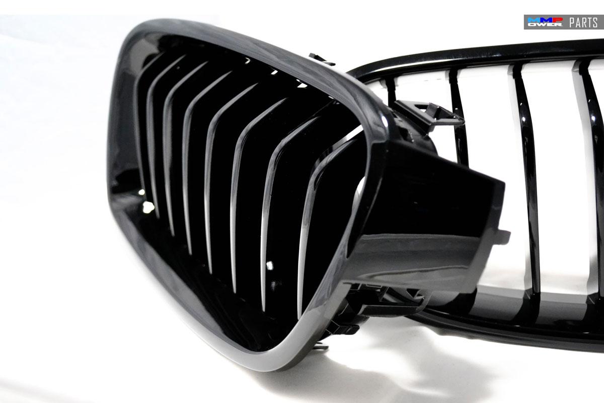 BMW F30 PianoBlack Ön Panjur Seti ( Böbrek )