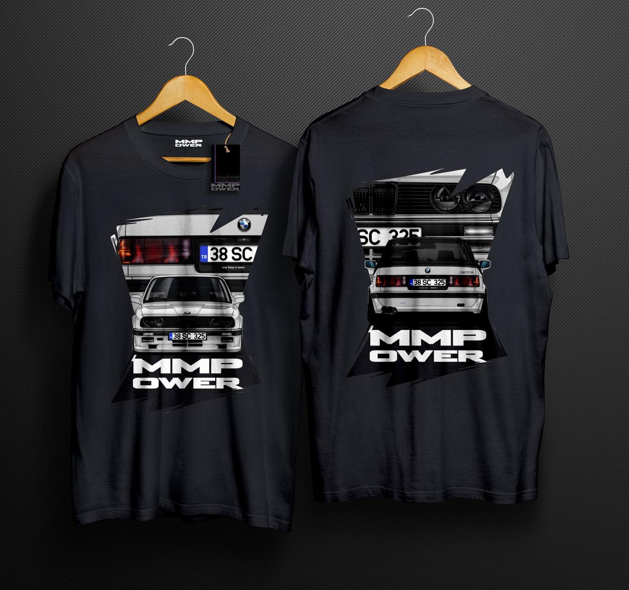 MMPower E30 325i Karekter TShirt Siyah