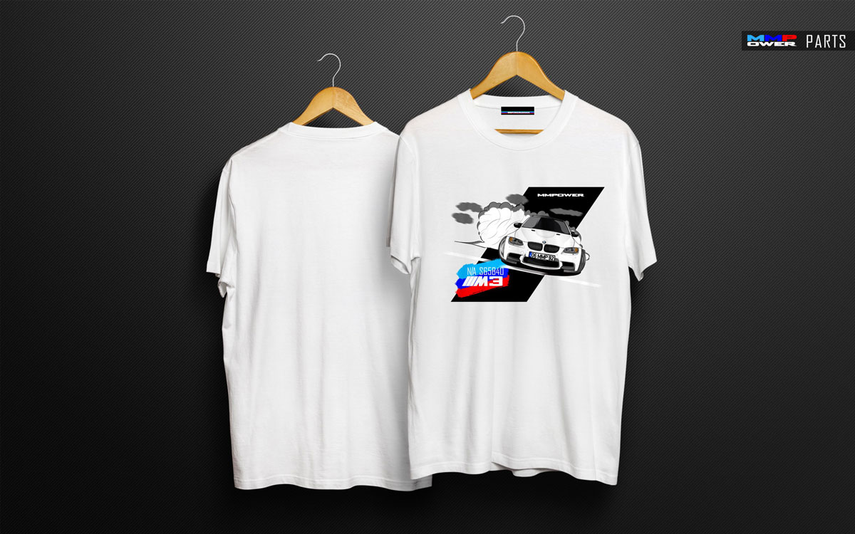 MMPower E92 M3 Special Edition Beyaz TShirt